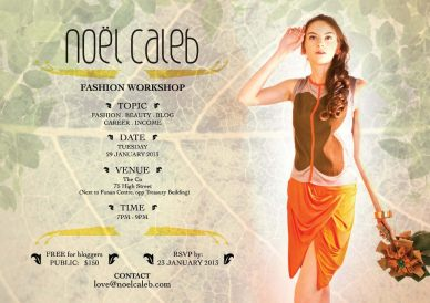 noel caleb fashion blogger wkshop 23Jan'13 poster
