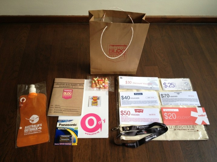 omy sba 2013 goodie bag