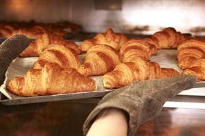 Freshly baked croissants from their daily bakery - off to feed the hungry peeps at Joe & Dough and other cafes in Singapore.  Photo: Joe & Dough