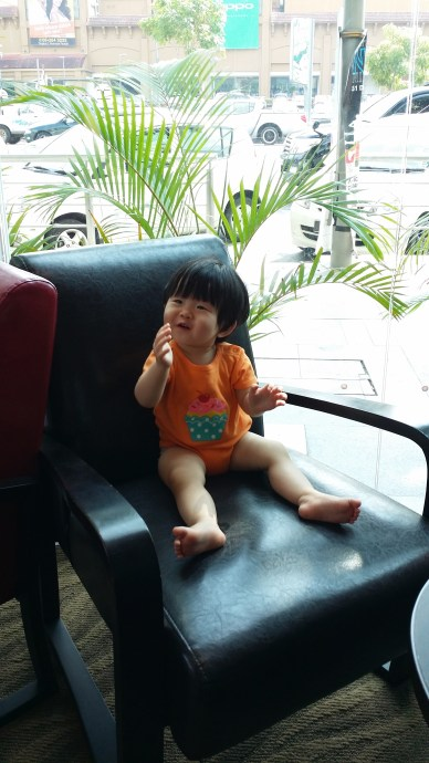 """""""Yes, I need coffee too, because I need to keep going with my napstrikes and explore Malacca with you, mummy!"""""""