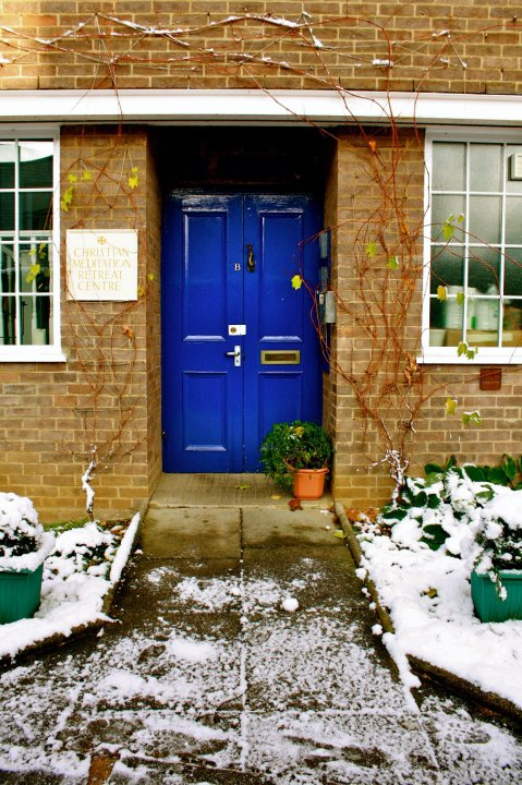 The bright blue door where our eyes first met!