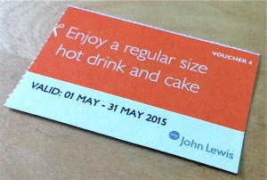 John Lewis May 2015 Voucher