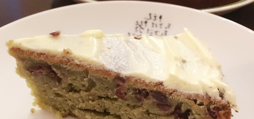 Matcha green tea adzuki yogurt butter cake recipe