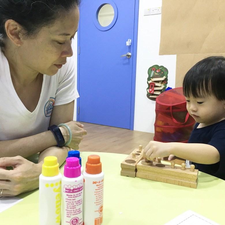 Montessori toys and materials at Badanamu class Singapore