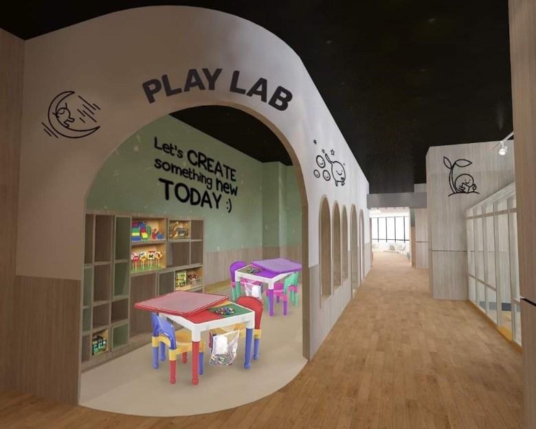play lab at kiddomo playland JB