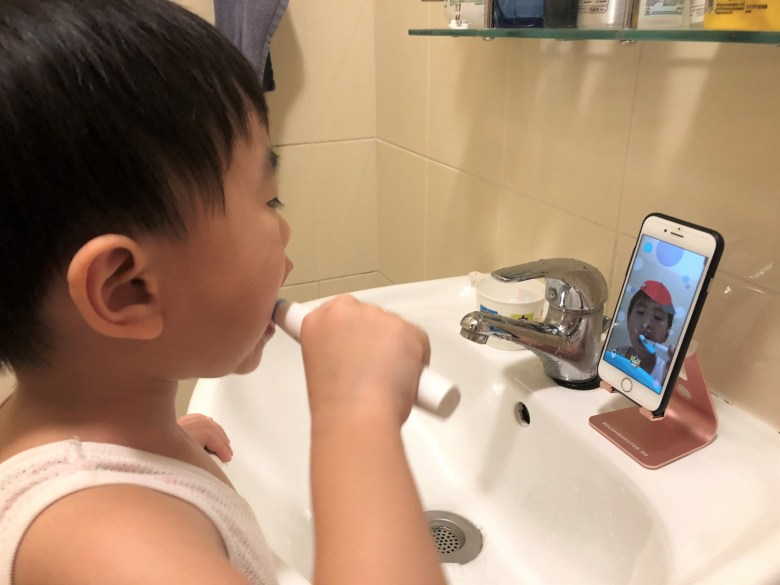 Interactive toothbrushing app for kids