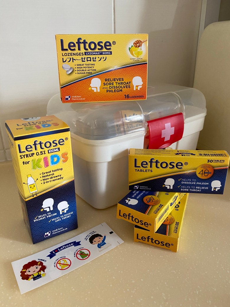 soothe sore throats with leftose for kids and adults