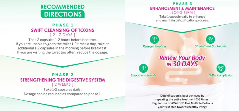 eliminate toxins to detoxify avalon aloe capsules