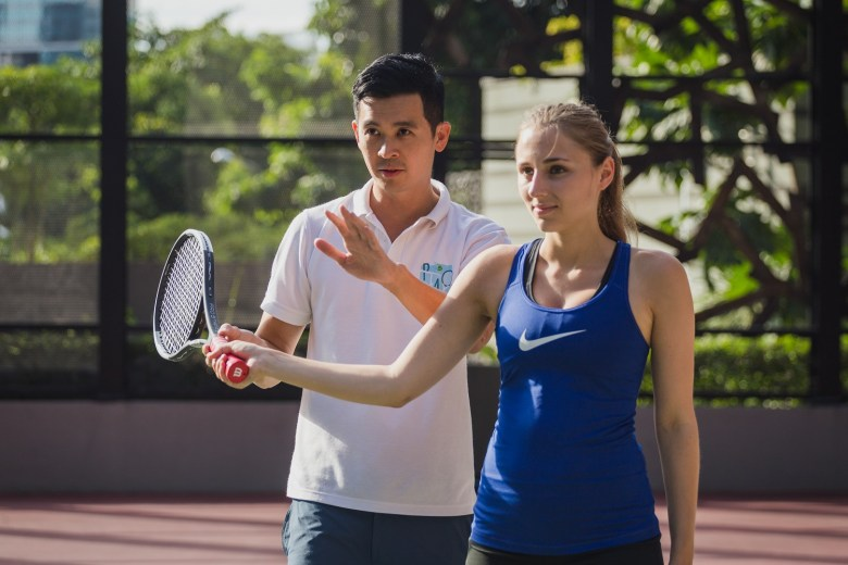 ways to stay active at home and play tennis