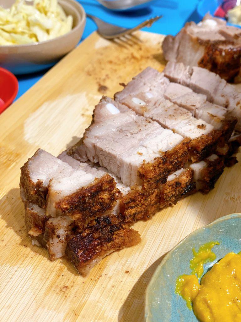 homemade roasted pork belly