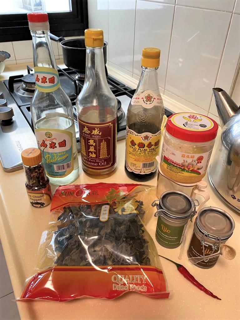 ingredients for black fungus salad recipe