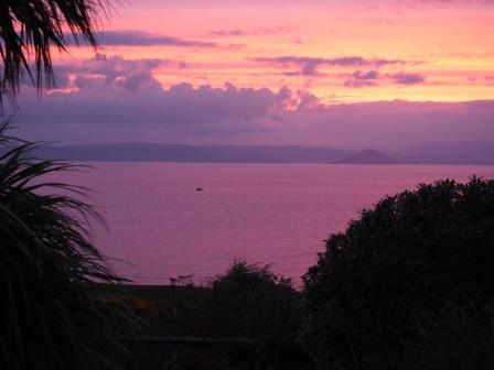 Softening to pinks & purple