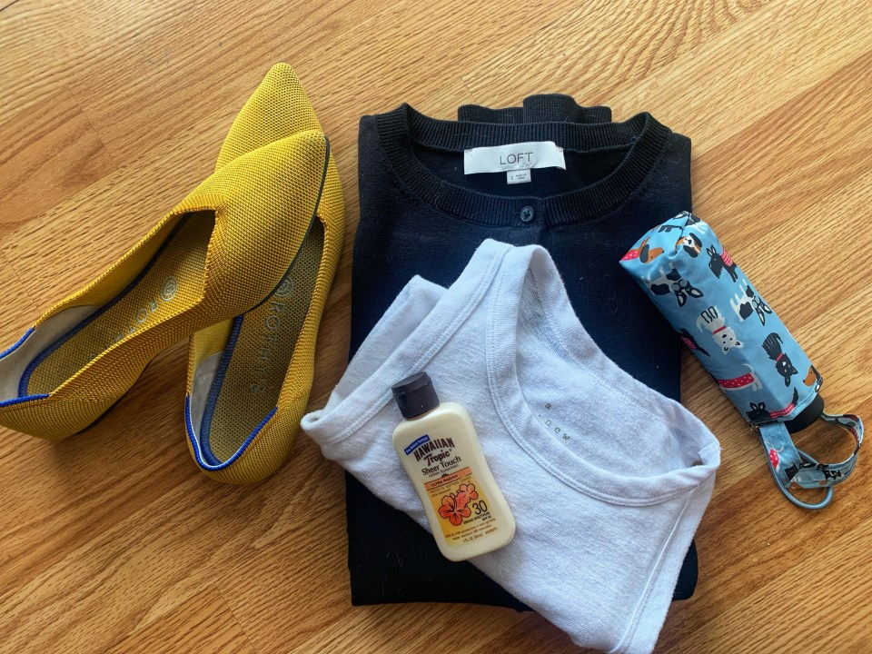 must have layover items for flight attendants weather