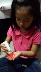 Step 4: Put some glue into the petals