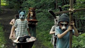 Children in animal masks