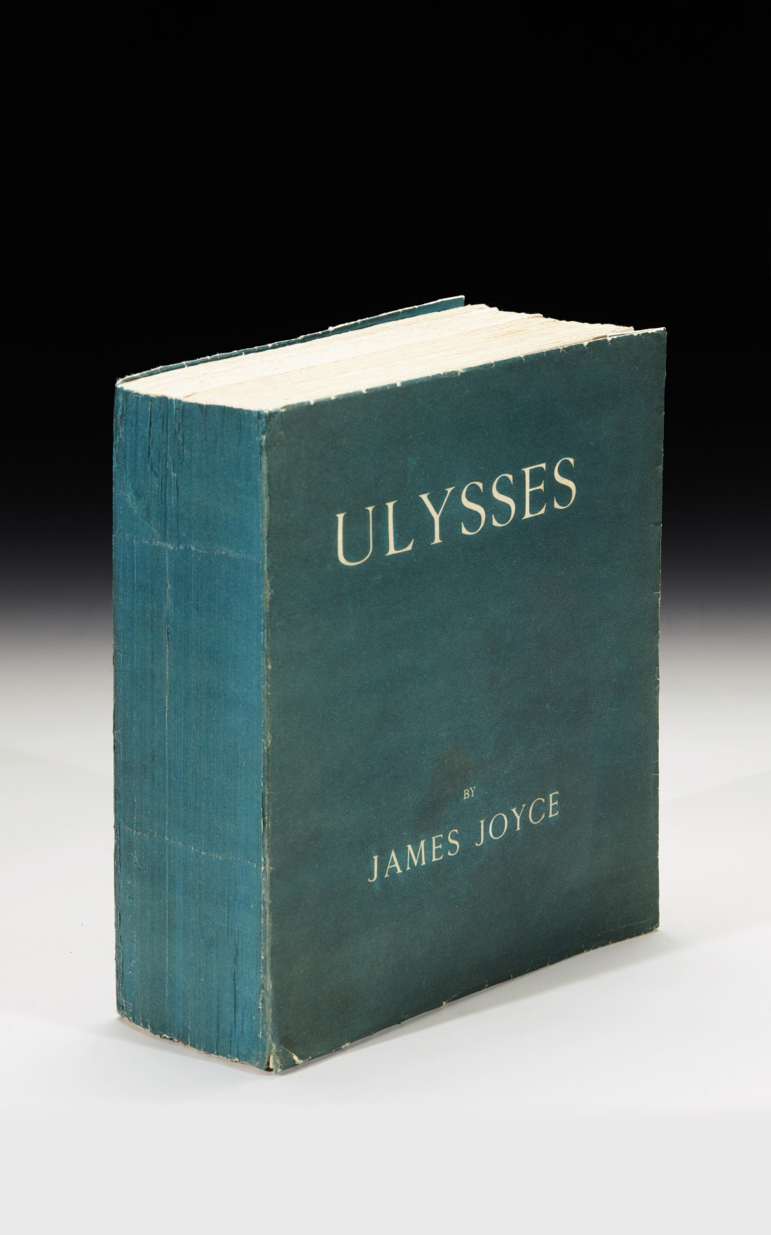 A first edition copy of James Joyce's Ulysses from the 1/100 series of the run of 1,000, which is signed by the author.