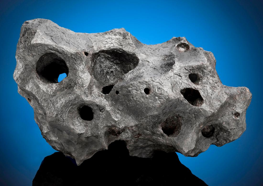 A meteorite from the Canyon Diablo fall, which occurred about 50,000 years ago in what is now the American state of Arizona.