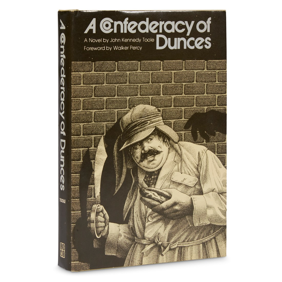 A 1980 first edition copy of A Confederacy of Dunces by John Kennedy Toole, in its dust jacket.