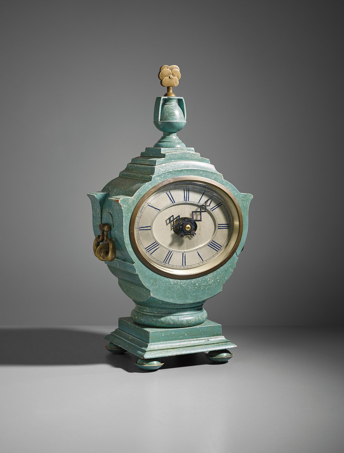 """A mantel clock designed by Sir Edwin Lutyens [pronounced """"Letchens""""] for the Viceroy's House, New Delhi, circa 1930."""