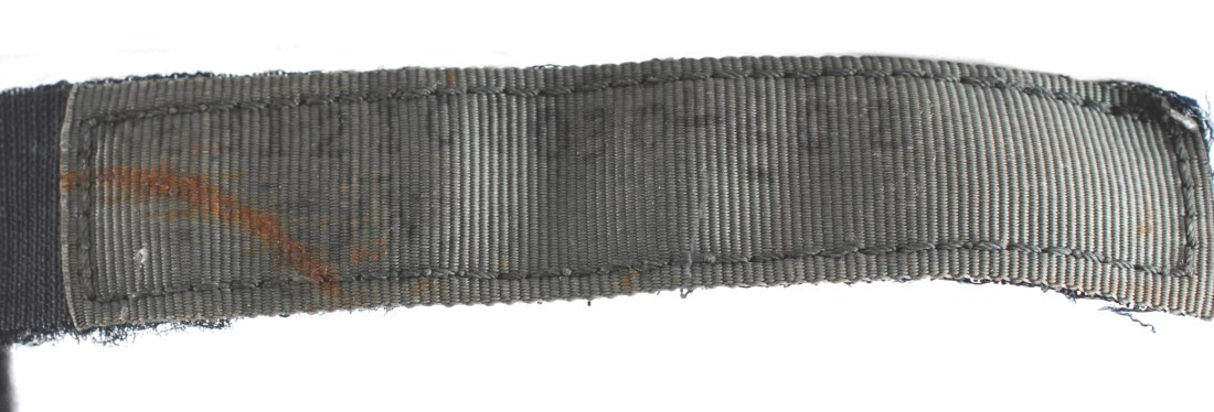 Closeup of part of the velcro strap on the Bulova chronograph that astronaut David Scott wore on the surface of the moon during the Apollo 15 mission.