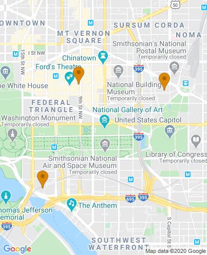 Map of Washington, DC Hotels   HotelGuides.com
