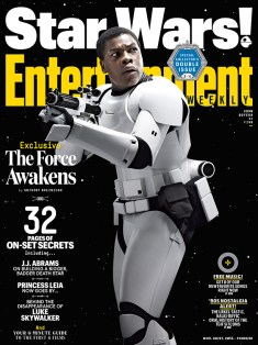 """In the trailer we hear and see his questioning. It's awesome to see that just because you're a stormtrooper, doesn't mean you fully believe in the cause. """"It's about looking for a greater purpose, rather than thinking, 'This is the only thing I can do,'"""" Boyega says of his runaway stormtrooper. """"He wants to change. He wants to make a difference. He's trying to find some kind of moral dignity in this war."""""""