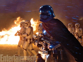 """""""I wish I could say to you, 'Oh, but of course, the entire thing was designed specifically for me,'"""" says Gwendoline Christie. """"If only that were true — if only!"""" It turns out, Captain Phasma was tailored just for her. The chrome-plated trooper originated as a design for Kylo Ren, but then J.J. Abrams was inspired to create a new character. """"I just thought it would be really cool if we could find someone to play the part who was female, and I'm a fan of Game of Thrones; Gwendoline is in that show, [The Force Awakens casting director] Nina Gold casts it, she knew Gwendoline, obviously,"""" he says. """"We were very lucky to get to have her in the movie. She's not in many scenes, but her presence is powerfully felt when she's there."""""""