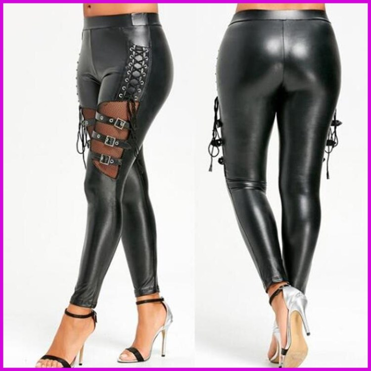 Women's Leather Sexy Tight Pants
