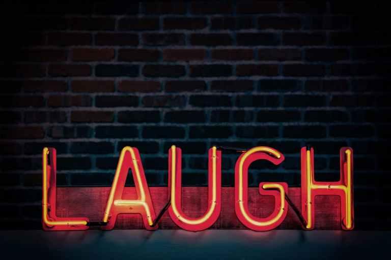 parenting humor, laugh sign