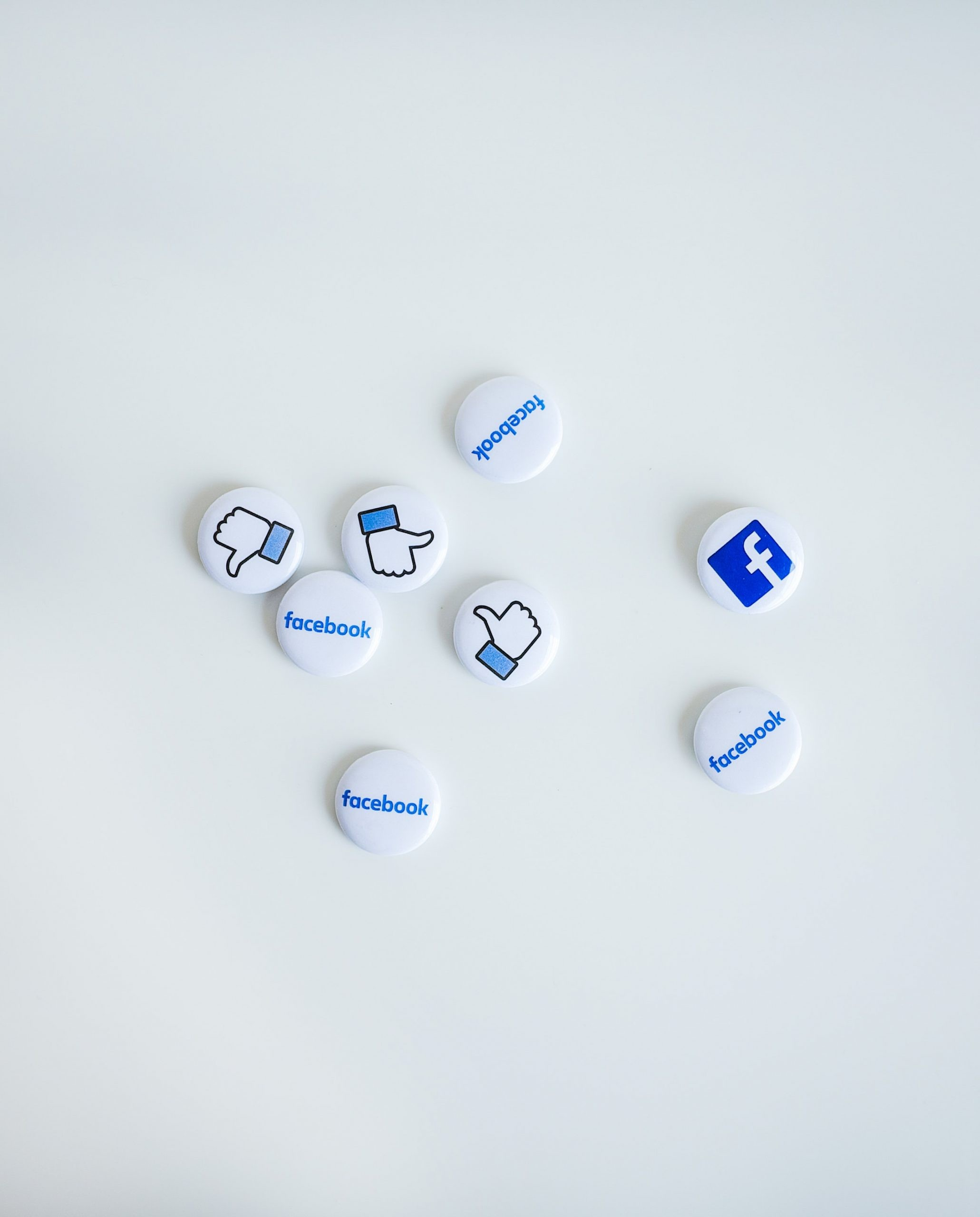 Facebook, magnets with thumbs up and other icons