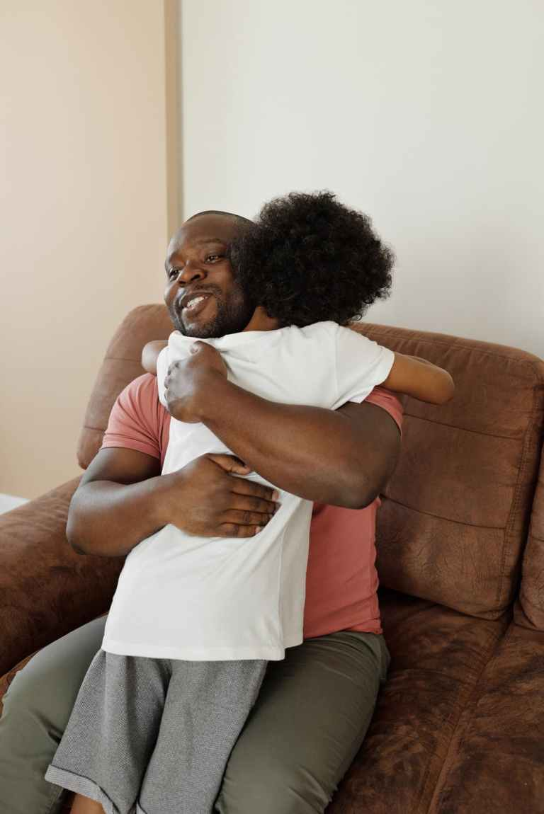 Father's Day, dad hugging child