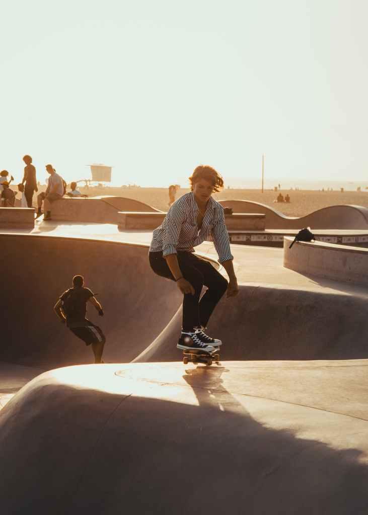 have fun in college, kid on skateboard