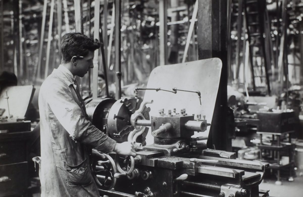 Man in factory