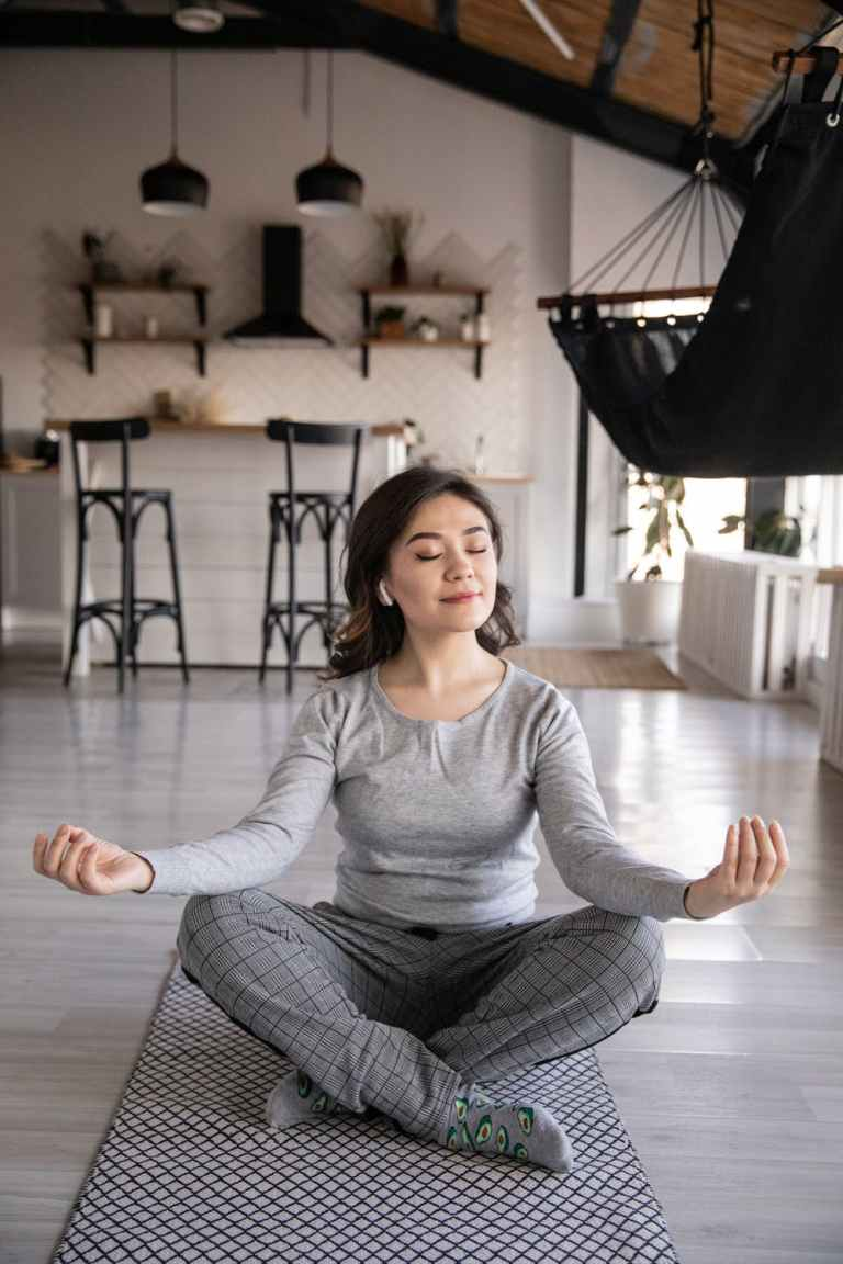 improve memory performance, woman doing yoga