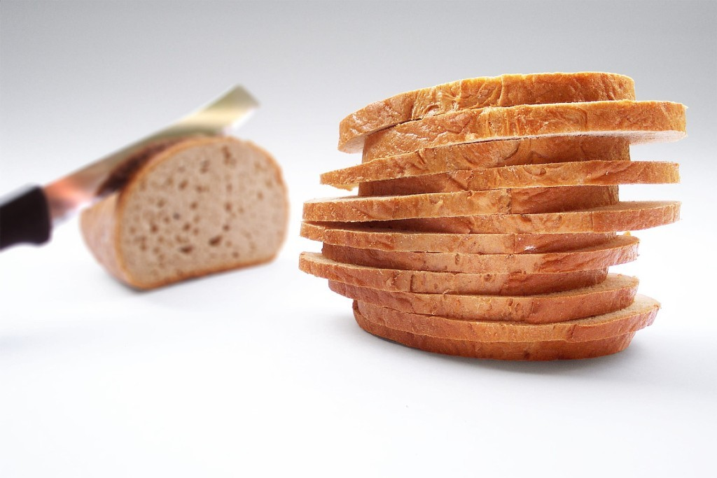 Fresh bread slices