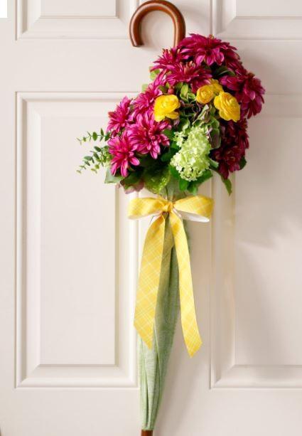Umbrella, flowers
