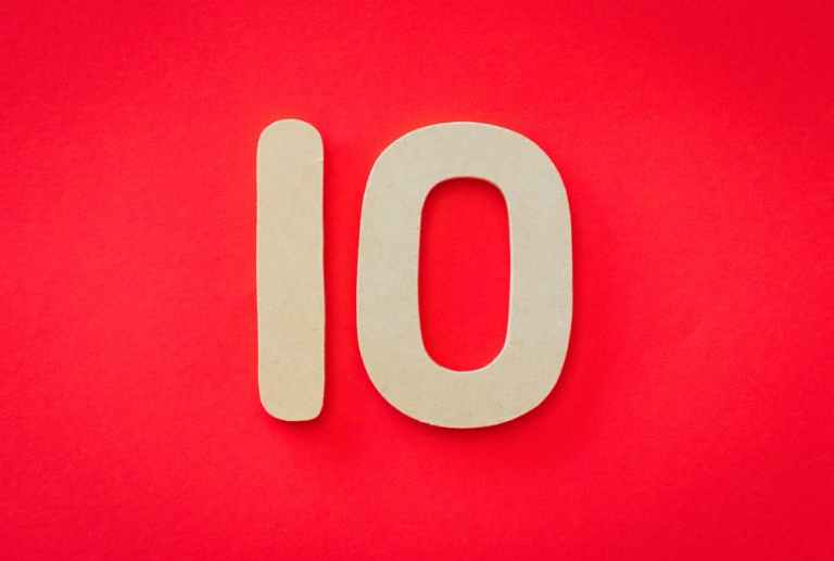 improve your life, number 10 on red background