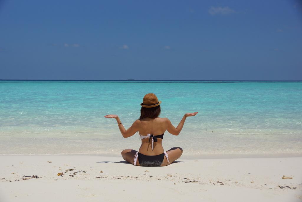 Maldives, woman, meditation