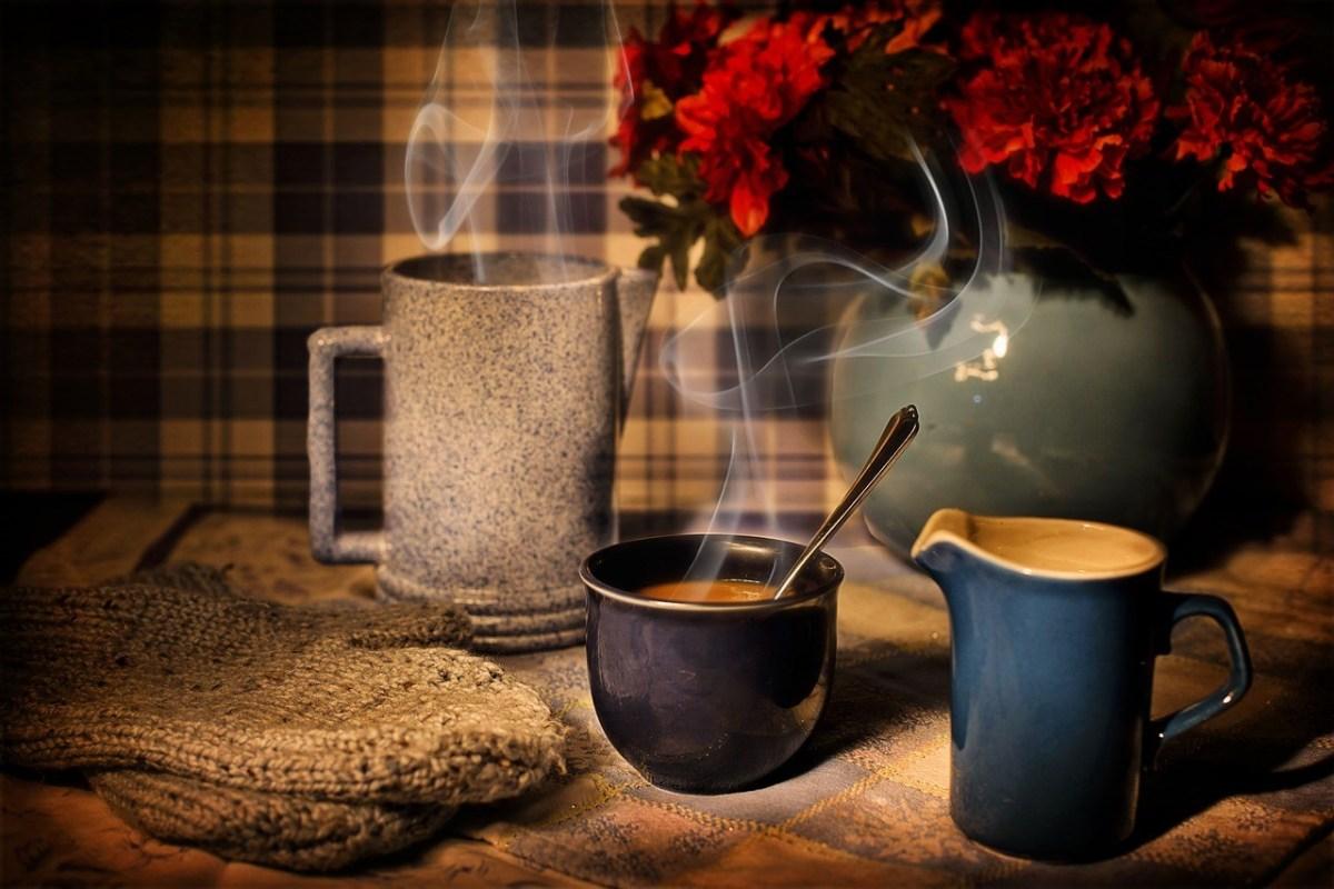 Cozy coffee fireplace