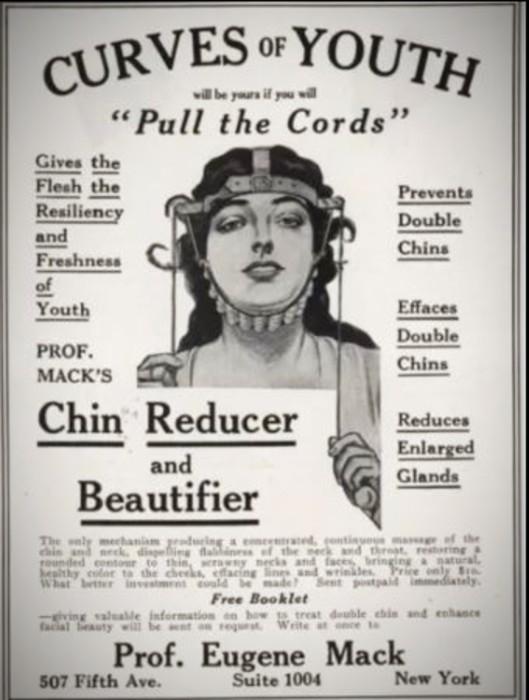 Advertisement chin reducer