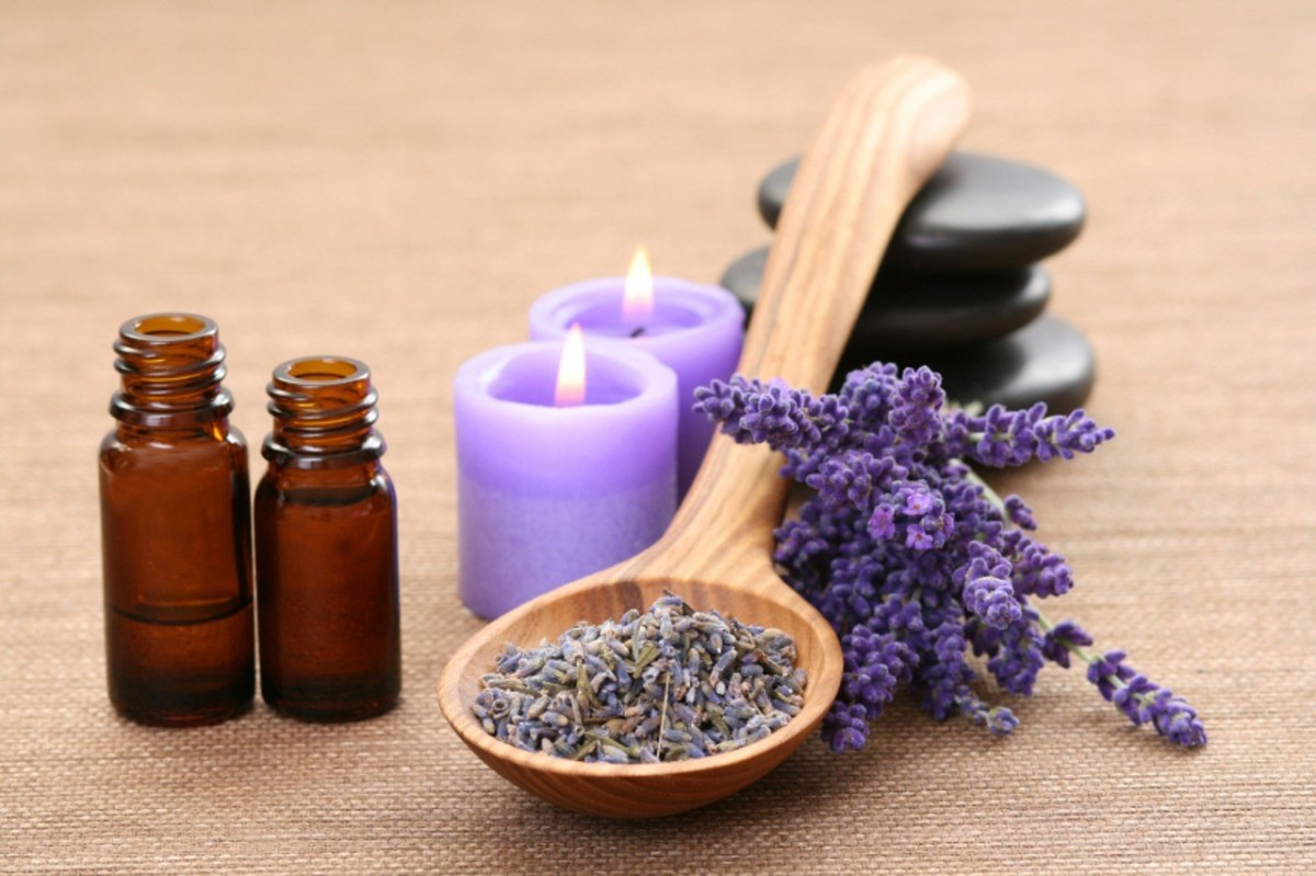 Lavender Oil and Flowers