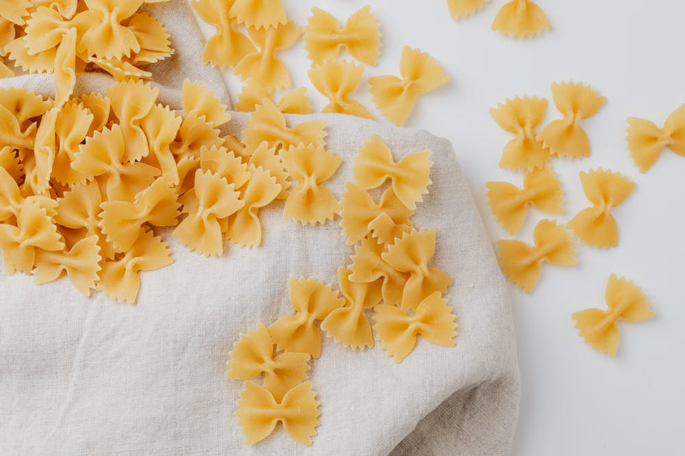 snack trends, dry bow tie pasta noodles