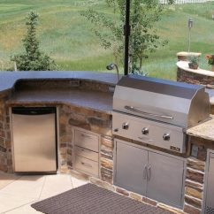 Outside Kitchen Countertop Ideas On A Budget Outdoor Kitchens The Hot Tub Factory Long Island Tubs