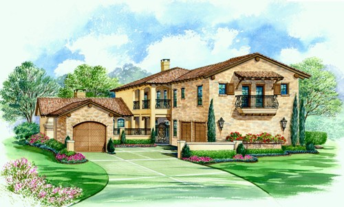 Mediterranean House Plan With Four Bedrooms