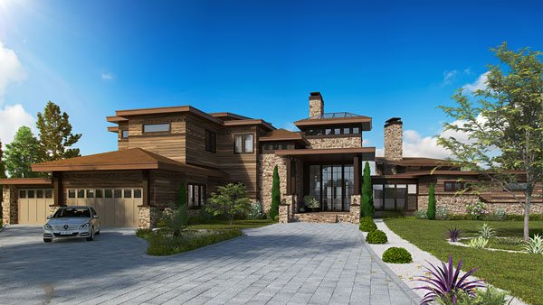 Contemporary Two-story Luxury House Plan