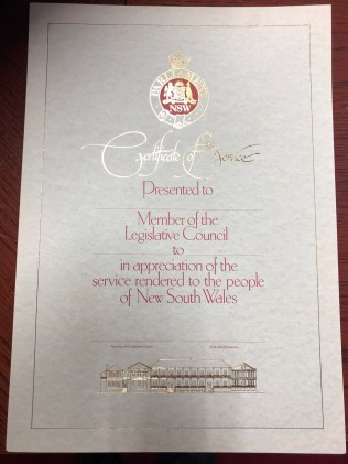 The certificate of service
