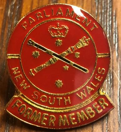 A former member's badge
