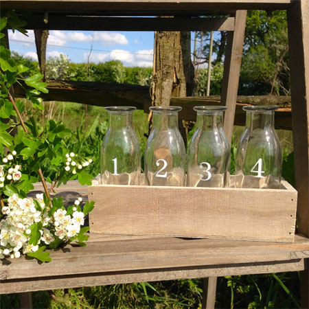 wedding milk bottles