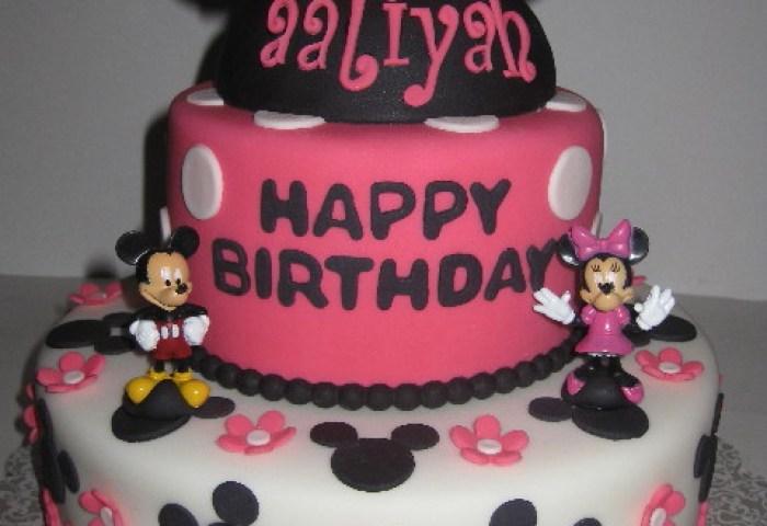 Alliyahs Minnie Amp Mickey Mouse 1st Birthday Cake