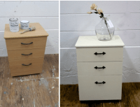 Veneer particle board filing cabinet with Chalk Paint by ...